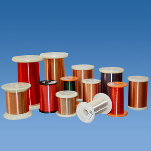 Self-adhesive enameled wire